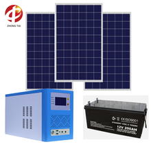 10KW off grid solar system with solar panels GEL battery and off grid inverter