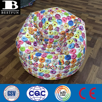 luxury inflatable chair cloth coated PVC air blow up round sofa fold up morden lounge ball chair