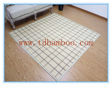 fashional factory price white large grid bamboo carpet for kids