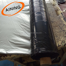 Agriculture Weed Control Mat / Black Polyethylene 0.02MM Thickness Plastic Agricultural Mulch Film