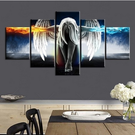 group 5 panels cheap china canvas wall art prints from custom photo pictures