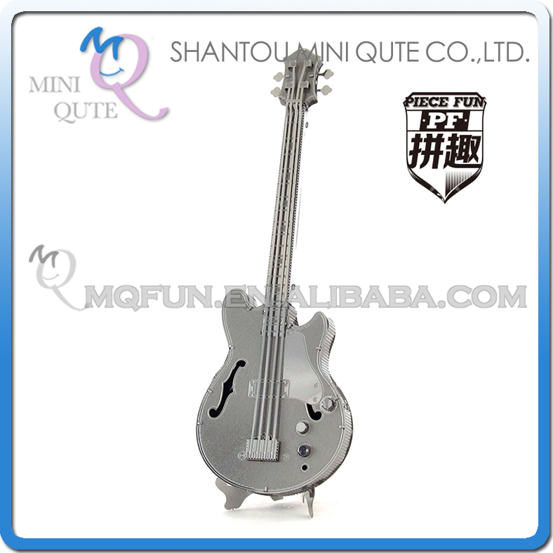 Piece Fun 3D Metal Puzzle musical instrument Electric Bass Guitar Adult DIY model educational toys NO GLUE NEEDED NO.PF 9502