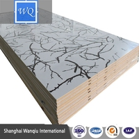 UV MDF With Wood Grain Design Panel for Kitchen Cabinet Wardrobe