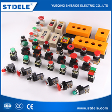 China manufacturer led metal pushbutton switch with wire harness