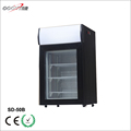 commercial fan assisted upright glass door mini freezer for supermarket chain