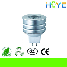CE RoHS Certificate high brightness energy-saving led spotlight lamp, 2 years warranty 1W GU5.3 led sportlight
