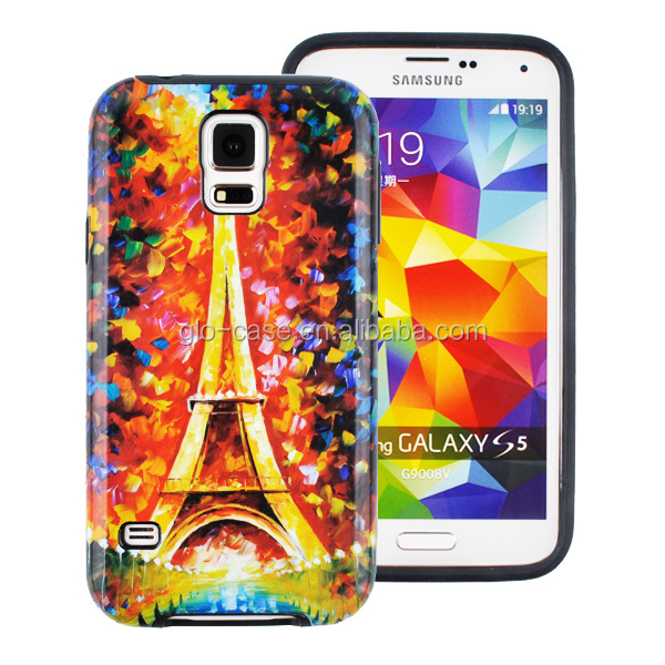 Smart Phones Accessories Custom PC and TPU Case for Samsung Galaxy S5
