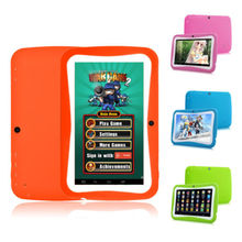 cheapest wifi 7 inch android tablet pc beautiful in colors Support Bluetooth 4.0 with rubber cover