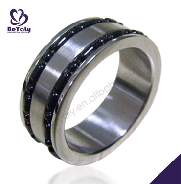 2013 new products bijouterie chic rhodium plated stainless steel ring jewelry