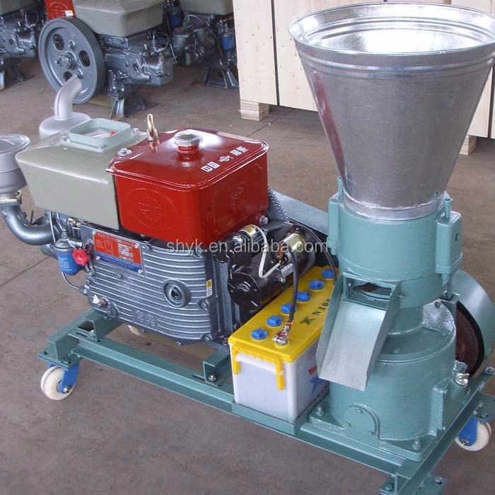 rice husk peanut shell biomass diesel pellet machine