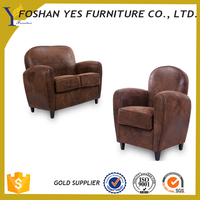 Star hotel high-quality leather beautiful parlor sofa chair