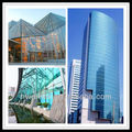 tempered Glass curtain wall design/window glass made by Guangzhou Hwarrior