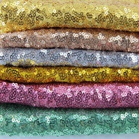 Direct Sale 3 mm Glitter Custom various Design Sequin Fabric Mesh Tulle Fabric With a Good Price