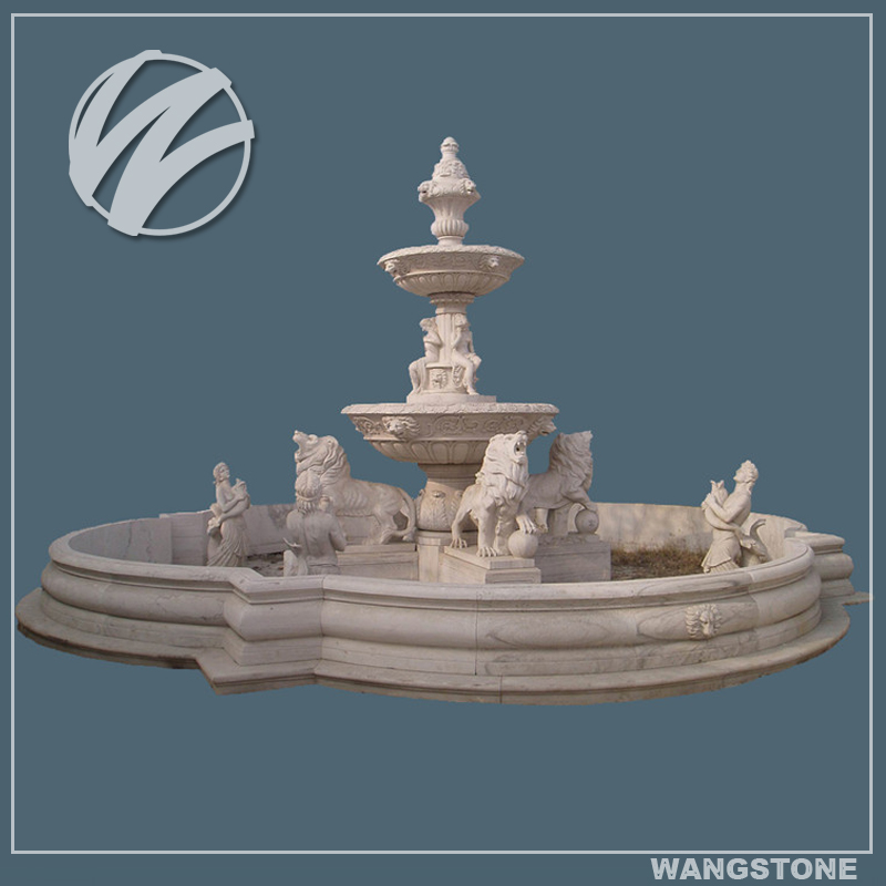 2016 New Products Large Stone Fountain Garden Statues