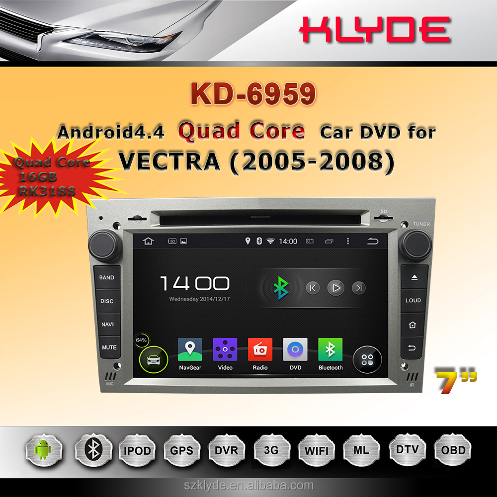 Touch Screen 6.95'' double din car dvd with bluetooth usb gps navigation and review camera for opel vectra