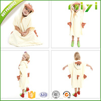 Wholesale High Quality Cotton Children's Baby Terry Bath Towels With Hood
