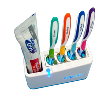 Home use sterilize 4 toothbrush 1 toothpaste together germicidal uv toothbrush sterilizer