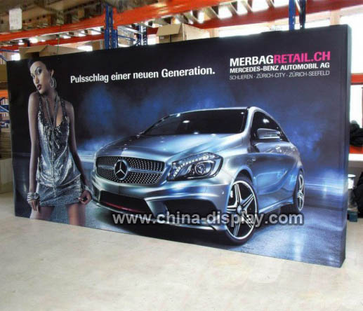 Aluminum structure trade show display 10ft exhibition booth pop up fabric wall