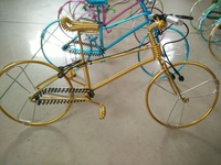 Popular arts and crafts/Iron wire handicraft Manual hand bike