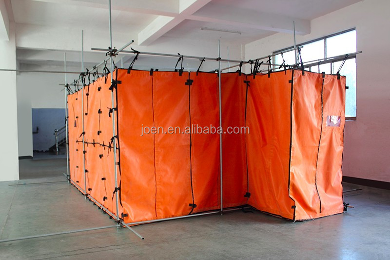 Fireproof Silicon Glass Fabric for Welding Habitats Weld Safe Habitat China Silicone Coated Welding Habitat
