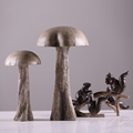 Highly simulation resin mushroom and squirrel statue for home decor