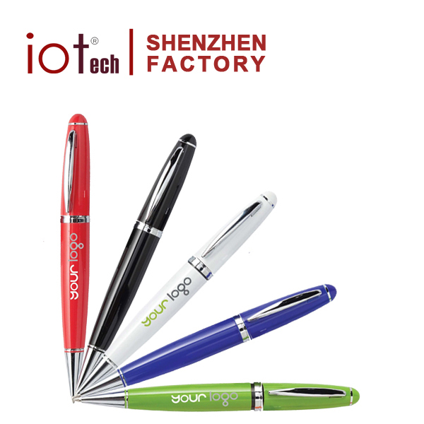 Print Company Name Promotional 128GB usb Flash Drive Laser Pointer Ball Pen
