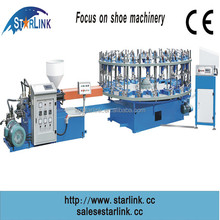 Hot sale, high speed automatic rotary single color PVC injection shoe making machine