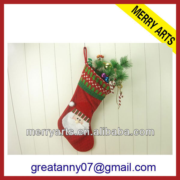 yiwu china elegant christmas stockings personalized needlepoint /christmas hanging socks