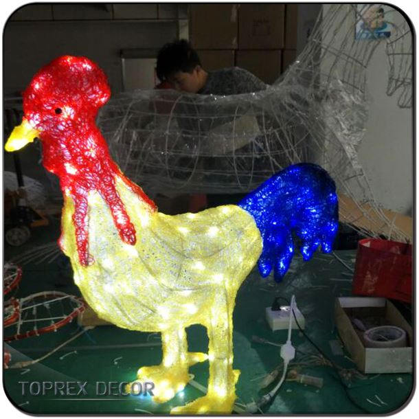 Custom Rooster animal miniature figurines for 2017 new year gifts