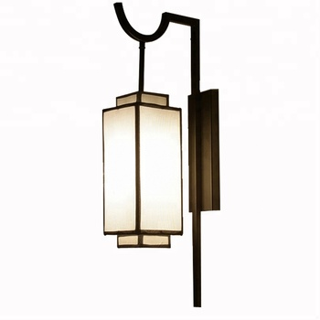 Modern Chinese antique creative cloth house wall lamp modern led wall light