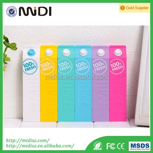 Hot Sale Milk Box Power Bank Colorful 2600mAh Power Bank Mobile External Battery For all kinds of mobile Phone