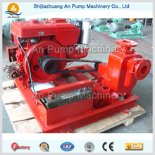 diesel engine trailer mounted self priming pump