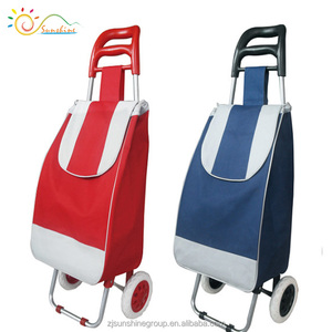 Food beverage trolley high quality foldable shopping grocery bags