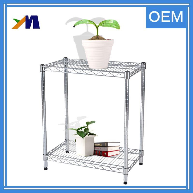 Decorative modern free standing chrome wire display rack