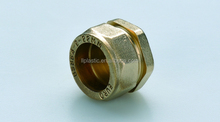 High quality copper pipe fittings brass end plug