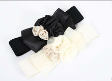 new arrival women elastic silk belt