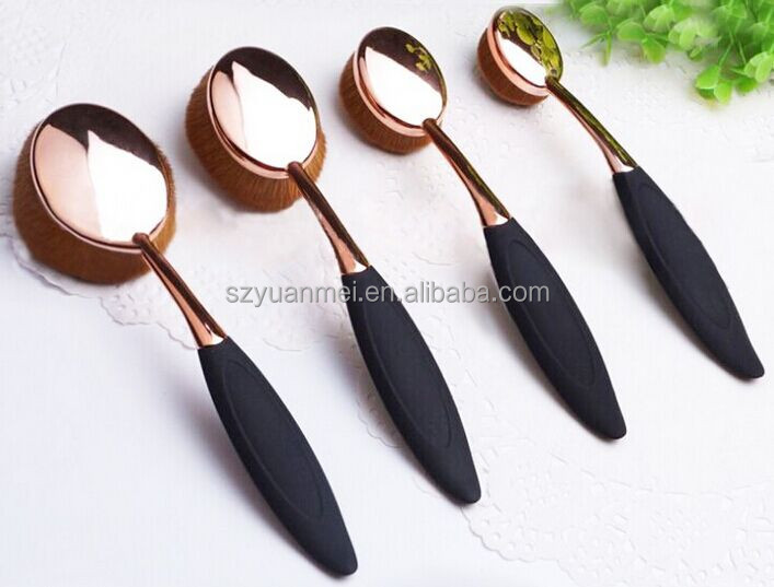 New product 6 pcs Makeup Brush Kits with cute leather pouch ,ideal for travelling,gift ,promotional use