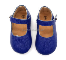 flat ballet dress shoes soft leather girl nary blue baby moccasins wholesale