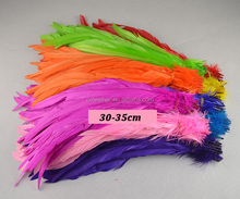 Factory cheap sale Blenched rooster feather tail feather rooster tail feather