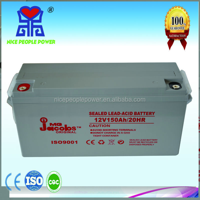JACOBS battery 12V150AH Solar Battery hot sales in Africa