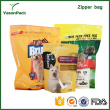 Clean and damp proof good printing plastic feed pet pouch packing bag