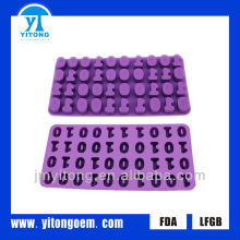 hot sale silicone digit shaped ice molds