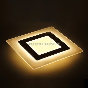 Modern led suspended ceiling light square 30w interior fancy suspended pendent lighting