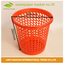 PE Plastic three Size Decorative Waste Paper Baskets