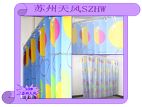Hospital Emergency Room Cubcle Print Curtain