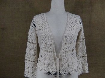 fashion cotton crochet casual tops