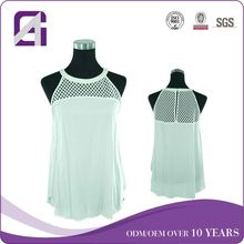 New arrival factory OEM halter top sequence blouse designs from sxagatha