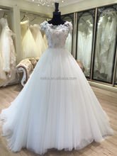 2017 new sample guangzhou fiber optic wedding dress buying from china