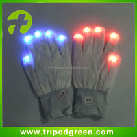 Holiday party,festival popular led flashing gloves with white color
