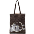 Logo printed vintage canvas cheap promotional shopping bag